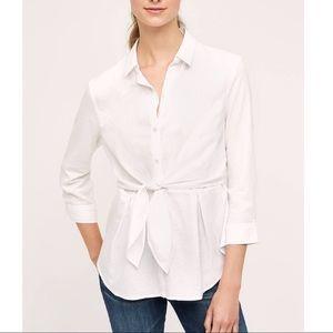 Anthropologie HD in Paris front tie blouse